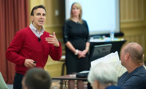 Dennis Reina training workshop attendees