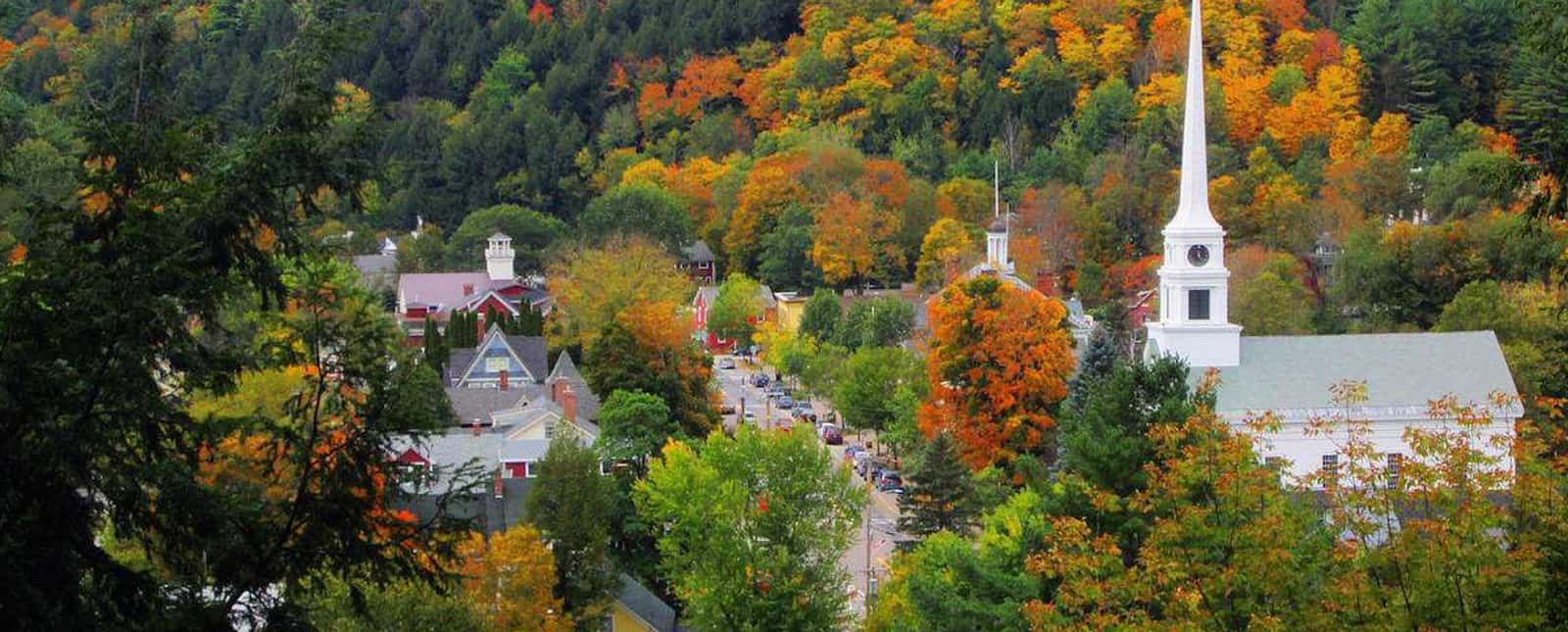 Stowe, Vermont in Autumn